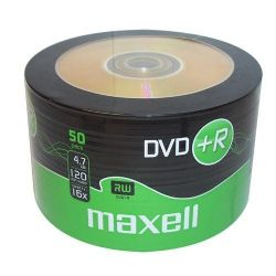 50 Maxell DVD+R - Recordable DVD 4.7GB, 16x | Cables4all